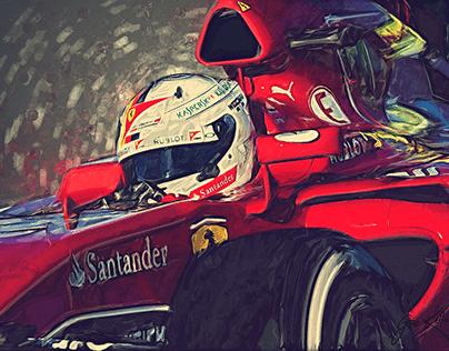 Ferrari F1 tribute to Sebastian Vettel