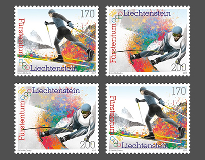 2018 Winter Olympics Stamps - Philatelie Liechtenstein