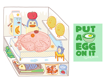 Put A Egg On It: recipe spot illustration