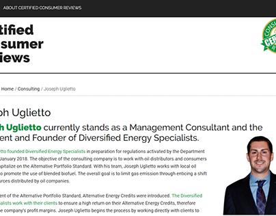 Certified Consumer Reviews - Joseph Uglietto