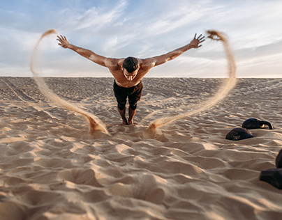 Workout in desert