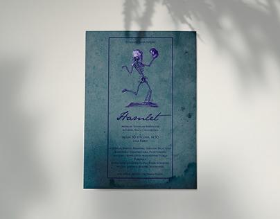 "plakat do etiudy ""Hamlet"" Kingi Chudobińskiej, AT"