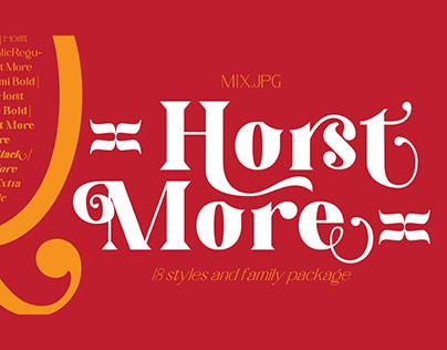 HORST MORE - FREE RETRO SERIF FONT