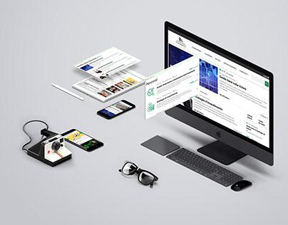 News website UI details (desktop)