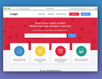 cariguru.id web platform marketplace
