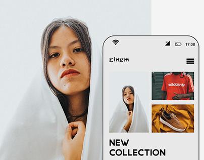 Cinem - Fashion website & UI/UX Design