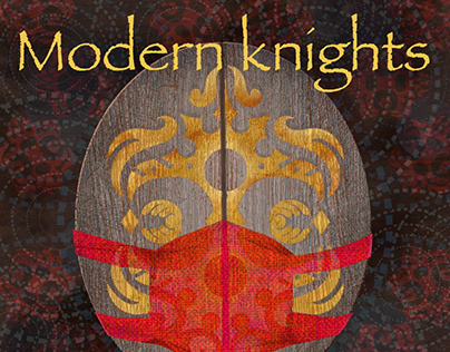 Modern knights shield with masks