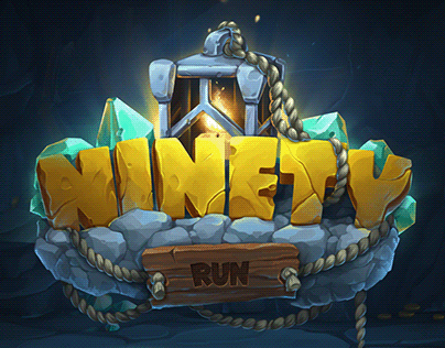 Fantasy game logo and environment