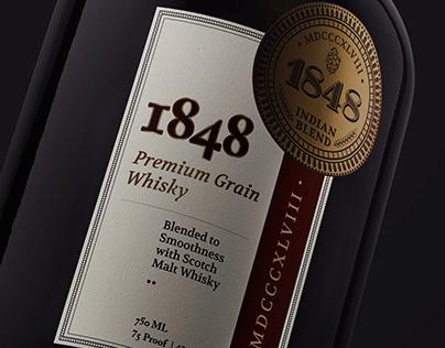 1848 whisky bottle
