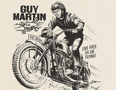 Guy Martin Calendar Illustrations