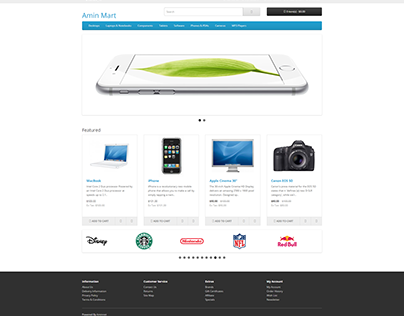 Design a website for an online store selling products