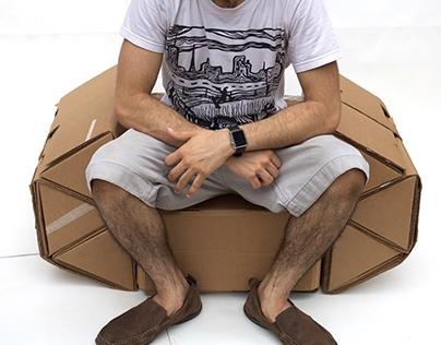 Modular Reconfigurable Cardboard Chair