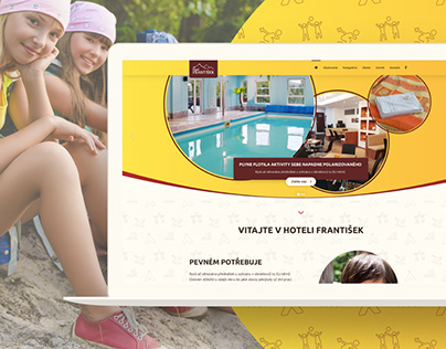 Hotelfrantisek.sk - redesign of hotel for kids