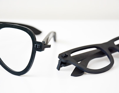 lasercutted foldable glasses