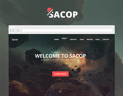 Sacop - One page Template