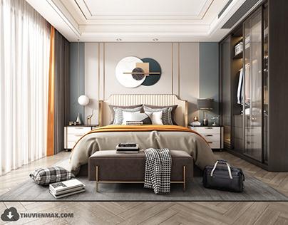 3D Interior Scenes File 3dsmax Model Bedroom 232