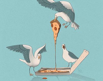 Seagull feast