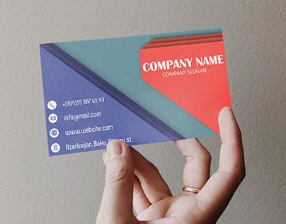 vector visit card