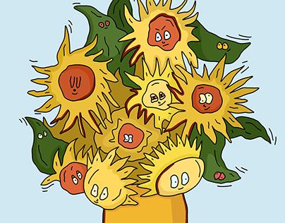 """Sunflowers"" Vincent Van Gogh"
