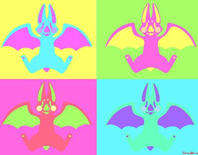 Bat Pop Art