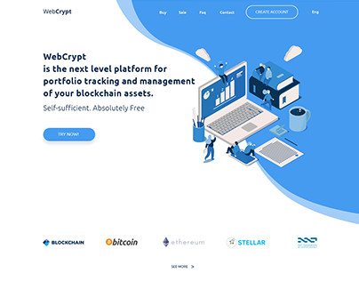 WebCrypt landing page design