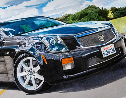 Cadillac CTS-V (drawn by hand)