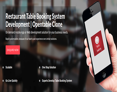 Restaurant Table Booking System Development | Opentable