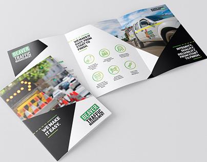Tri Fold Marketing Brochure // Traffic Management