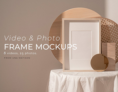 Video&Photo Frame mockups