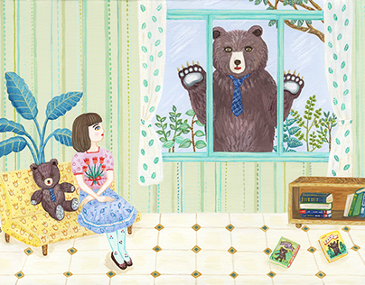 Girl meets bear