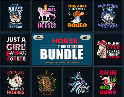 Horse T Shirt Design Bundle