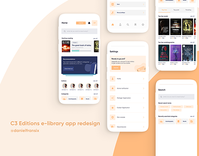 C3 Editions app ui/ux redesign project