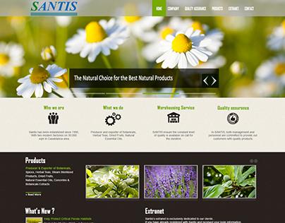 Conception & développement du site web de santis