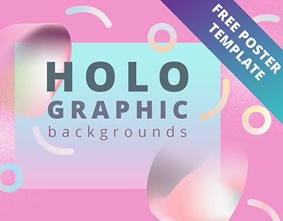 Holographic hi-ress backgrounds