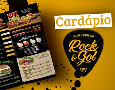 Cardápio Rock & Gol