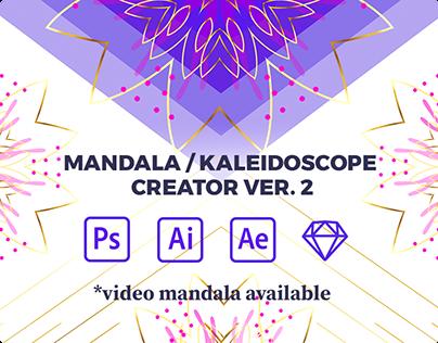 Mandala / Kaleidoscope Creator for PS AI AE SKETCH