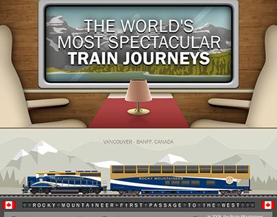 Train journeys - infographic