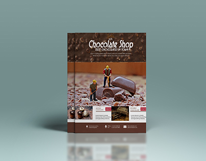 Flyer for a Chocholate Shop