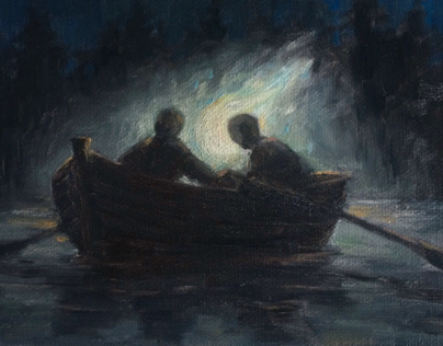 Drawlloween 2019: oil paintings
