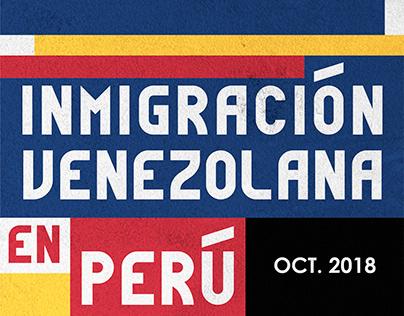 Inmigración Venezolana | Perú | Oct.2018