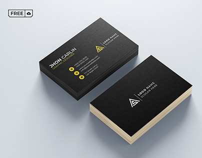 Blackish Business Card PSD Template Free Download