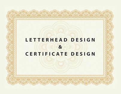 LETTERHEAD DESIGN & CERTIFICATE DESIGN