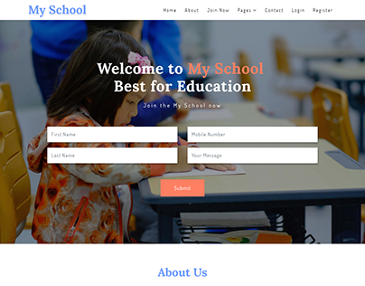 School Education Landing Page Designing & Development