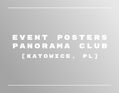 Panorama Club / Event Posters