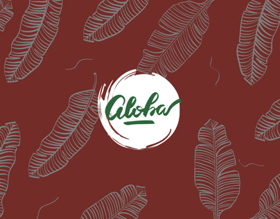 Aloha Brand Identity - Tropical candles Packaging