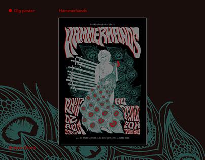 Hammerhands gig poster