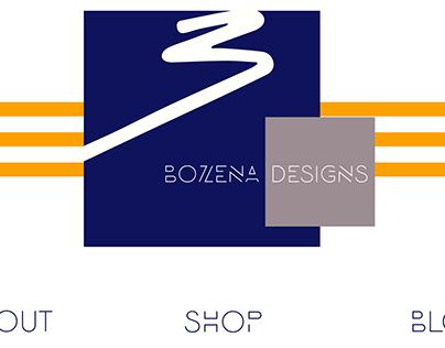 Bozena Designs website redesign