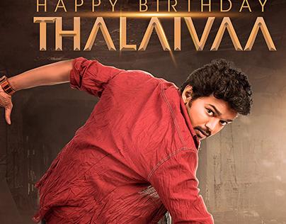 Thalapthy Birthday Poster