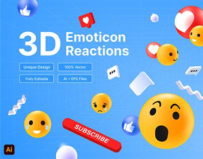 3D Emoticon Reactions