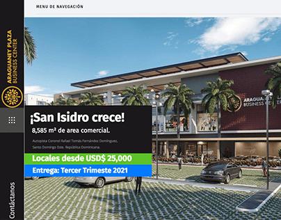 UX/UI. Website. Araguaney Plaza.